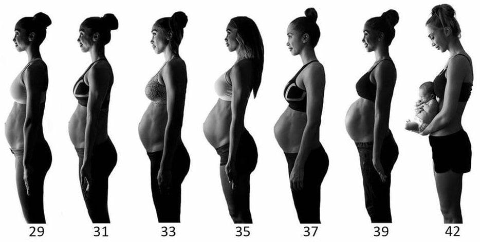 Zwangerschap - zwangere buik - derde trimestter